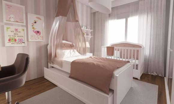 Evmoda Mobilya - Modern Genç Kız Odası Projemiz (1)