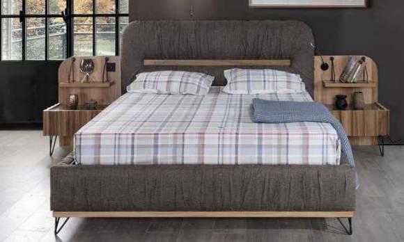 Evmoda Mobilya - Gizela Ceviz Modern Yatak Odası Takımı (1)