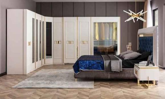 Evmoda Mobilya - Gloria Modern Giyinme Odası Takımı