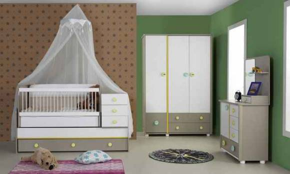 Evmoda Mobilya - Gökkuşağı Bebek Odası Takımı