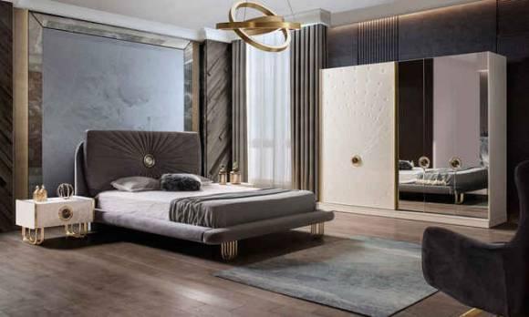 Evmoda Mobilya - Goldis Modern Yatak Odası Takımı