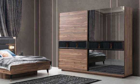 Evmoda Mobilya - Greco Ceviz Modern Yatak Odası Takımı (1)
