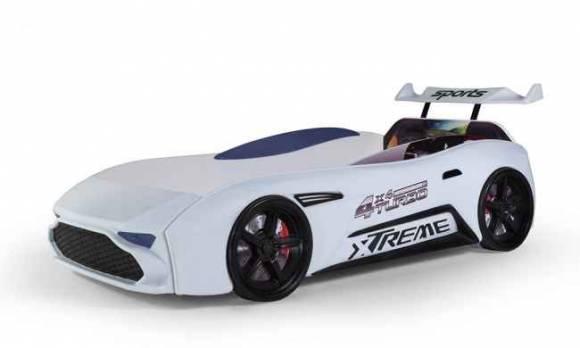 Evmoda Mobilya - GT-18 Aston Extreme Beyaz Arabalı Karyola