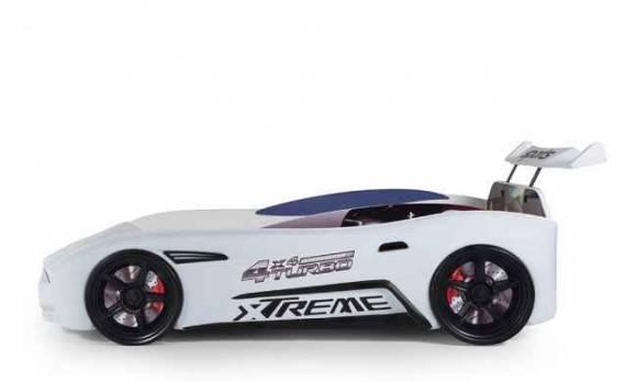 Evmoda Mobilya - GT-18 Aston Extreme Beyaz Arabalı Karyola (1)