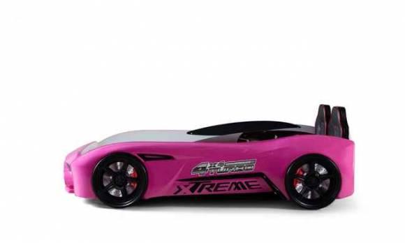 Evmoda Mobilya - GT-18 Aston Extreme Pembe Arabalı Karyola (1)