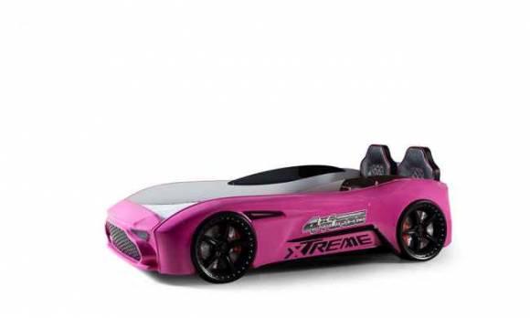 Evmoda Mobilya - GT-18 Aston Extreme Pembe Arabalı Karyola