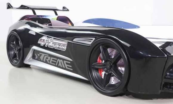 Evmoda Mobilya - GT-18 Aston Extreme Siyah Arabalı Karyola (1)