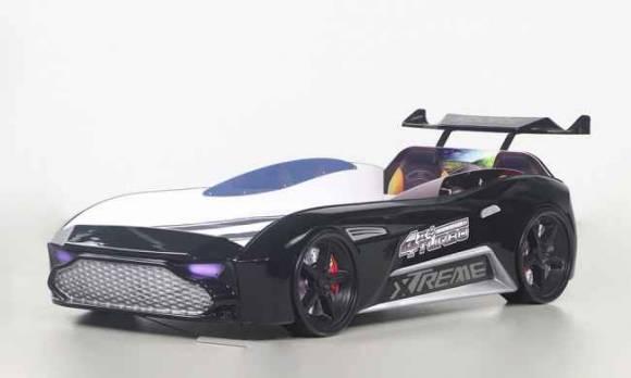 Evmoda Mobilya - GT-18 Aston Extreme Siyah Arabalı Karyola
