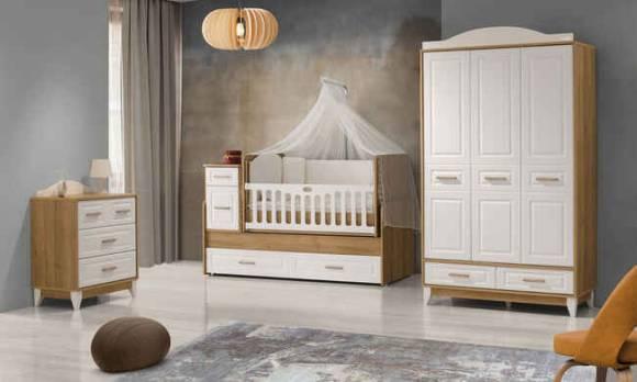 Evmoda Mobilya - Gümüş Bebek Odası Takımı
