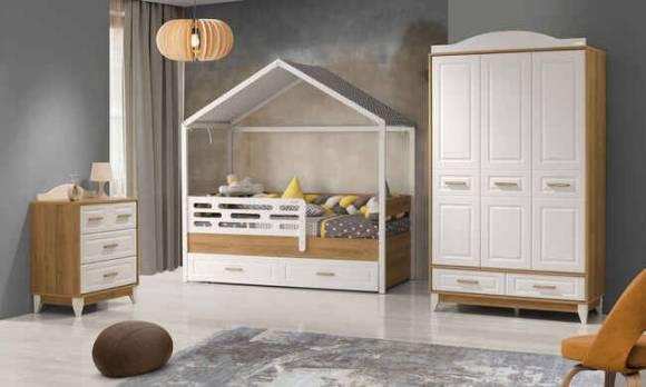Evmoda Mobilya - Gümüş Montessori Çocuk Odası Takımı