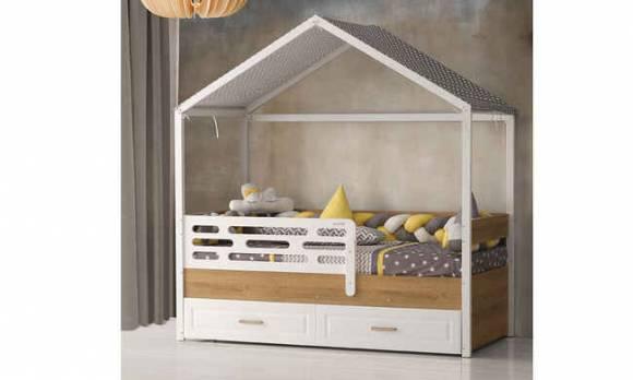 Evmoda Mobilya - Gümüş Montessori Karyola