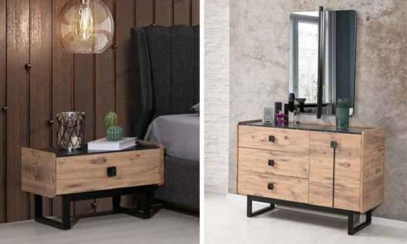 Evmoda Mobilya - Hedef Ceviz Modern Yatak Odası Takımı (1)