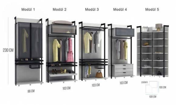 Evmoda Mobilya - Holly V2 Modern Giyinme Odası Takımı (1)