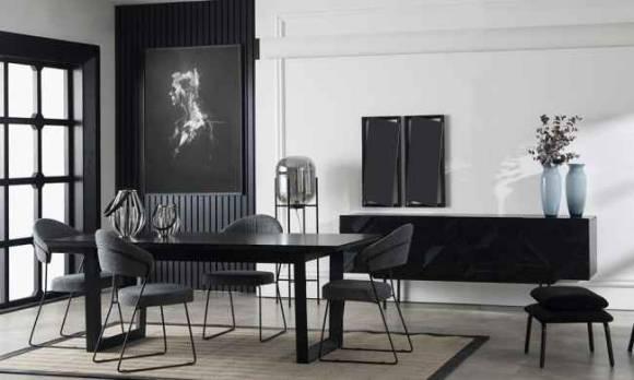 Evmoda Mobilya - İllusion Modern Yemek Odası Takımı