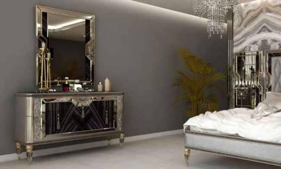 Evmoda Mobilya - Kristal Şifonyer Ve Aynası