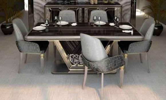 Evmoda Mobilya - Kristal Yemek Masası