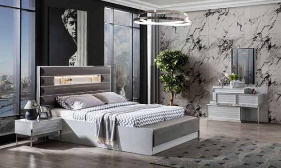 Evmoda Mobilya - Lion Krom Modern Yatak Odası Takımı (1)