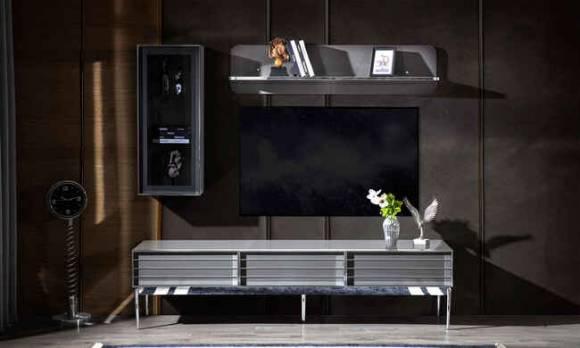 Evmoda Mobilya - Lion Gri Modern Tv Ünitesi