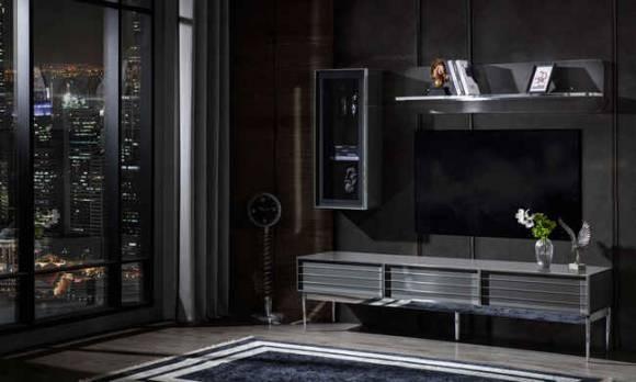 Evmoda Mobilya - Lion Gri Modern Tv Ünitesi (1)