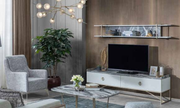 Evmoda Mobilya - Local Gold Modern Tv Ünitesi
