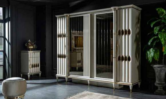 Evmoda Mobilya - Luxe Art Deco Yatak Odası Takımı (1)