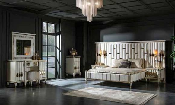 Evmoda Mobilya - Luxe Art Deco Yatak Odası Takımı