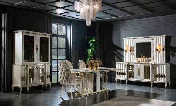 Evmoda Mobilya - Luxe Art Deco Yemek Odası Takımı