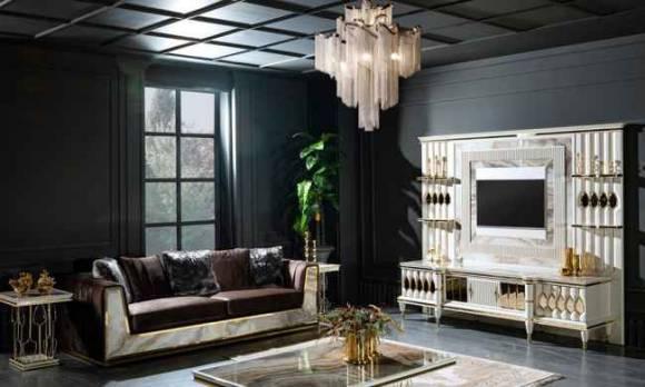 Evmoda Mobilya - Luxe Art Deco Yemek Odası Takımı (1)