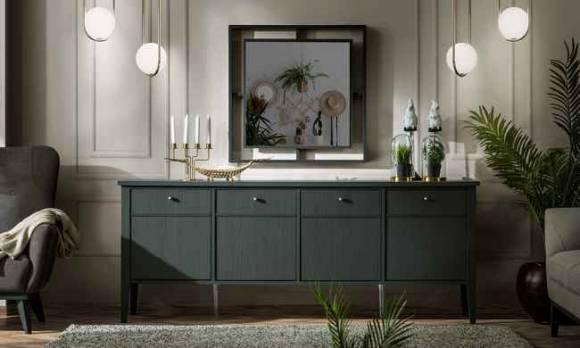 Evmoda Mobilya - Marsella Grey Konsol ve Aynası