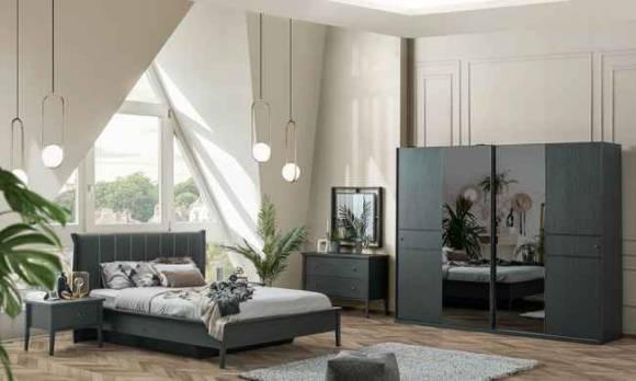 Evmoda Mobilya - Marsella Grey Modern Yatak Odası Takımı