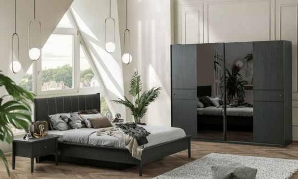 Evmoda Mobilya - Marsella Grey Modern Yatak Odası Takımı (1)