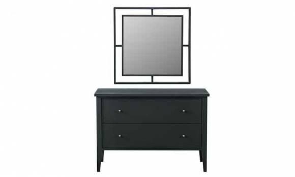 Evmoda Mobilya - Marsella Grey Şifonyer ve Aynası (1)
