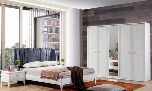 Evmoda Mobilya - Melis Beyaz Modern Yatak Odası Takımı