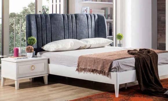 Evmoda Mobilya - Melis Beyaz Modern Yatak Odası Takımı (1)