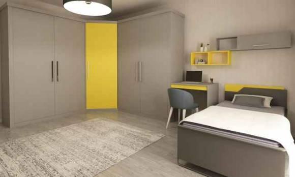 Evmoda Mobilya - Modern Genç Odası Projemiz (1)