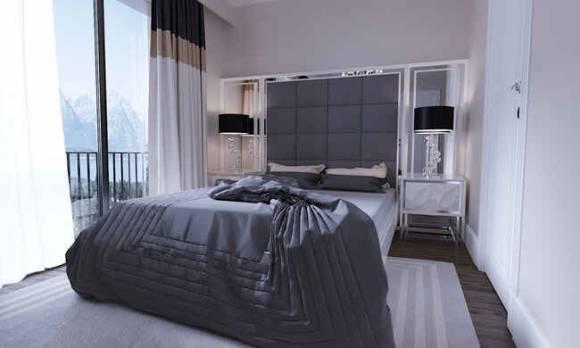 Evmoda Mobilya - Modern Yatak Odası Ev Projesi