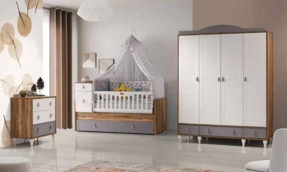 Evmoda Mobilya - Monaco Mega Bebek Odası Takımı