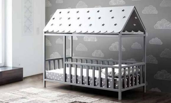 Evmoda Mobilya - Montessori Çocuk Karyola Gri