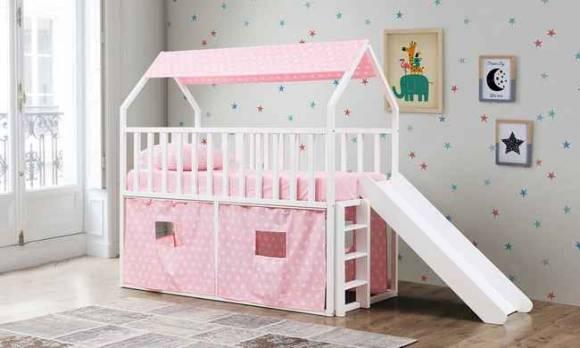 Evmoda Mobilya - Montessori Oyun Evi Kaydıraklı Pembe