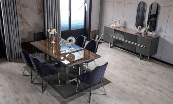 Evmoda Mobilya - Monza Modern Yemek Odası Takımı (1)
