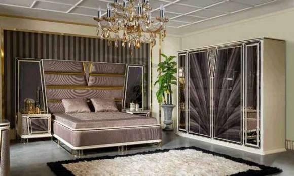 Evmoda Mobilya - Olimpos Art Deco Yatak Odası Takımı