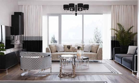 Evmoda Mobilya - Oturma Odası Tasarım Projemiz (1)