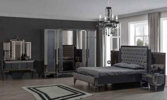 Evmoda Mobilya - Pırlanta Art Deco Yatak Odası Takımı