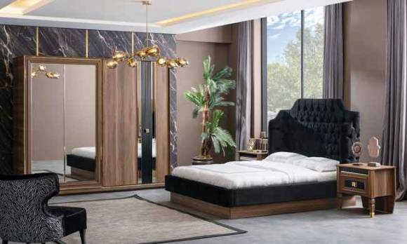 Evmoda - Polen Ceviz Modern Yatak Odası Takımı