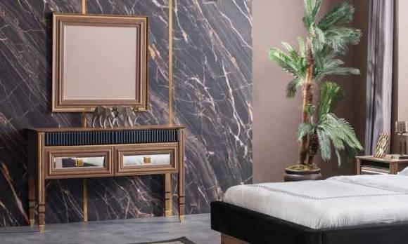 Evmoda Mobilya - Polen Ceviz Şifonyer Ve Aynası