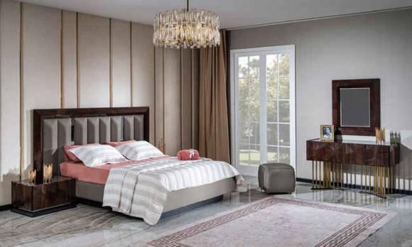 Evmoda Mobilya - Prada Ceviz Modern Yatak Odası Takımı (1)