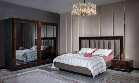 Evmoda Mobilya - Prada Ceviz Modern Yatak Odası Takımı