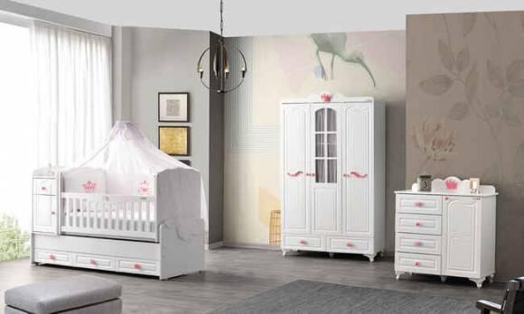 Evmoda Mobilya - Prenses Maxi Bebek Odası Takımı