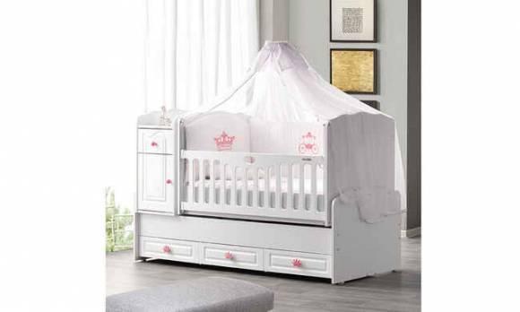 Evmoda Mobilya - Prenses Maxi Bebek Odası Takımı (1)