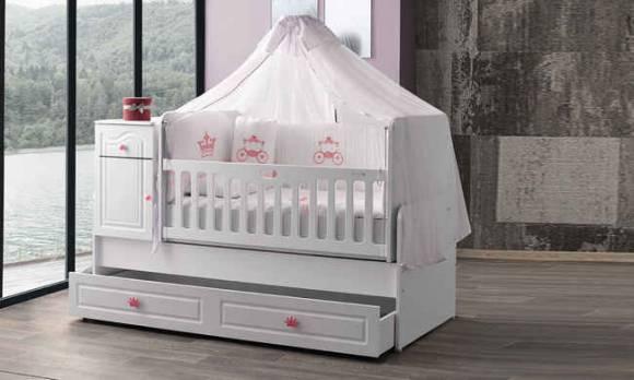 Evmoda Mobilya - Prenses Mega Bebek Odası Takımı (1)